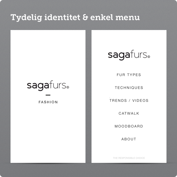 saga furs fashion app menu