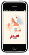 Hansens Flødeis iPhone app splash screen