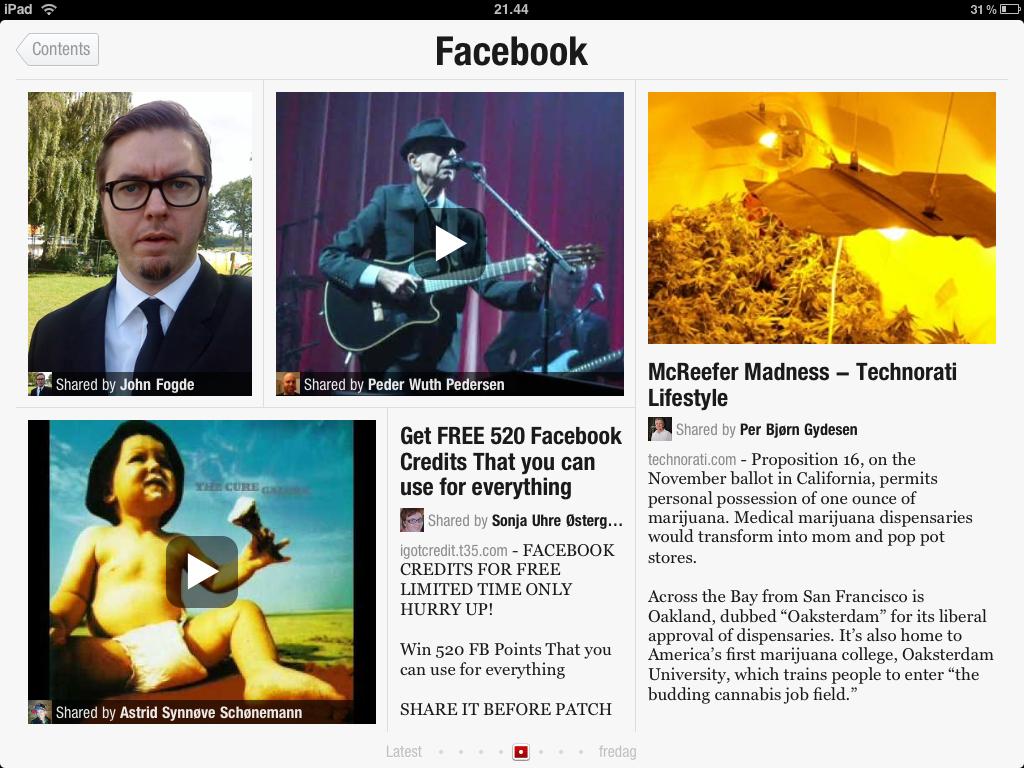 Facebook i Flipboard
