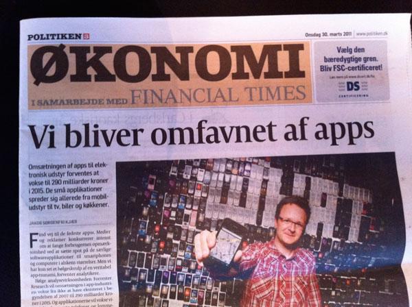Artikel i dagens Politiken om app-markedet