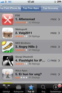 Nr. 1 i AppStore