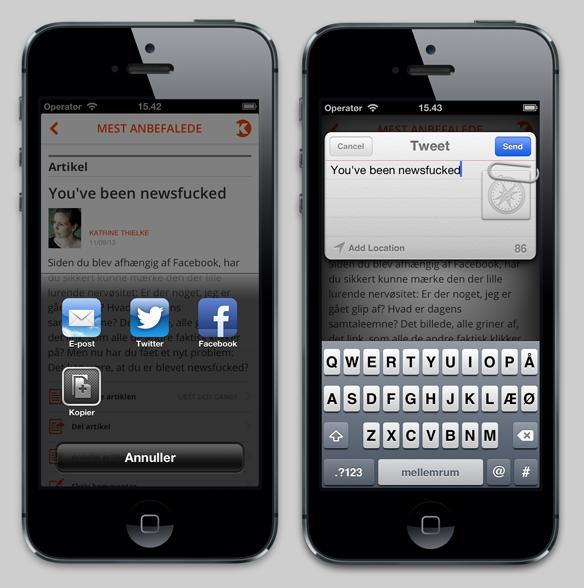 Kommunikationsforum - app - deling