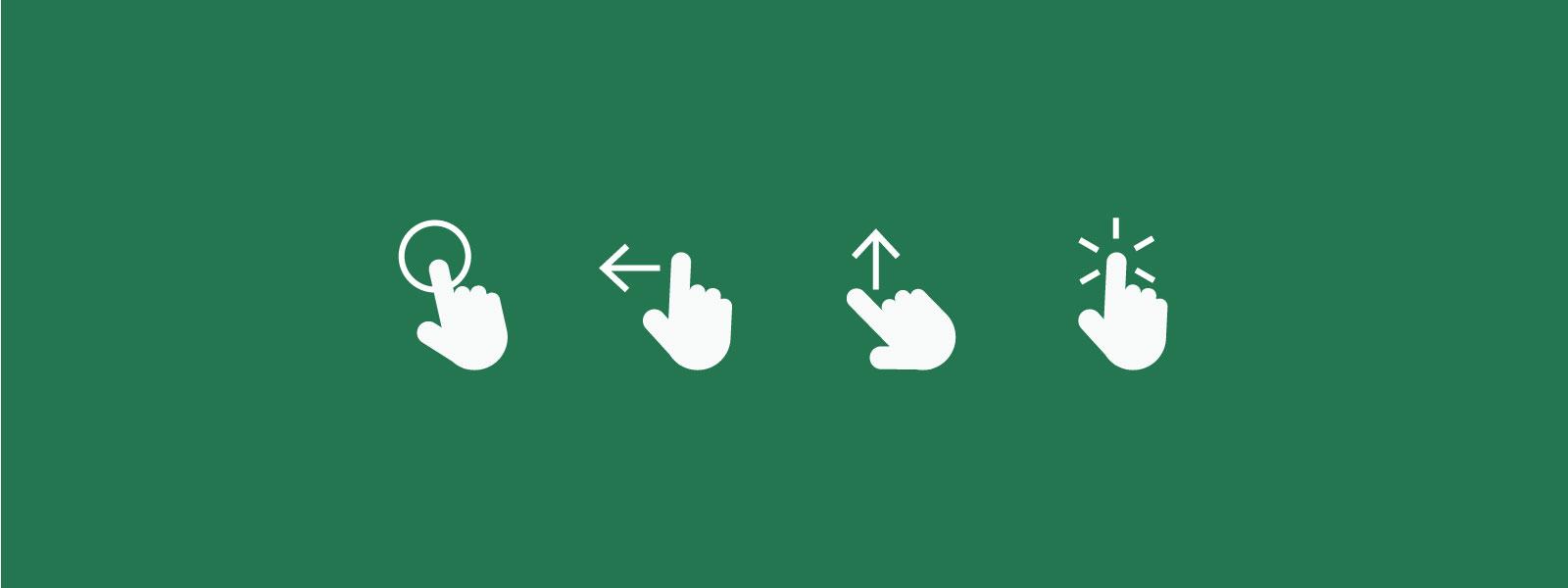 Swipe! – og andre håndbevægelser som navigation i en app